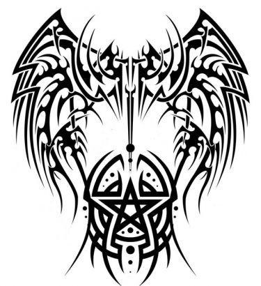Tribal clipart angel WingsAngel Black on 25+ Tribal
