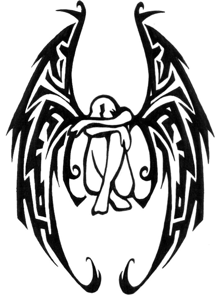 Tribal clipart angel Library Weeping Free Free on