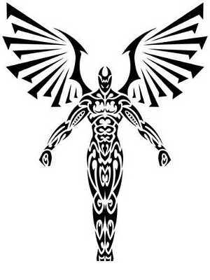 Tribal clipart angel Tattoo Tribal Tattoos Angels Tattoo