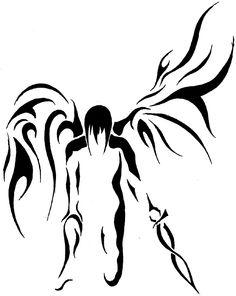 Tribal clipart angel DeviantART Tribal Angel Tattoo on