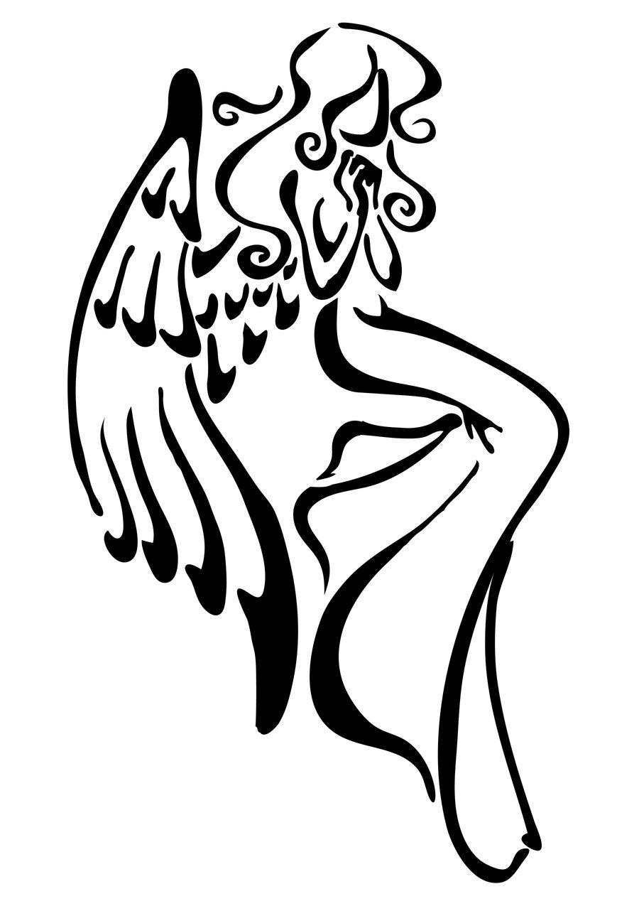 Tribal clipart angel Angel Tattoo's Clip Download Tattoos