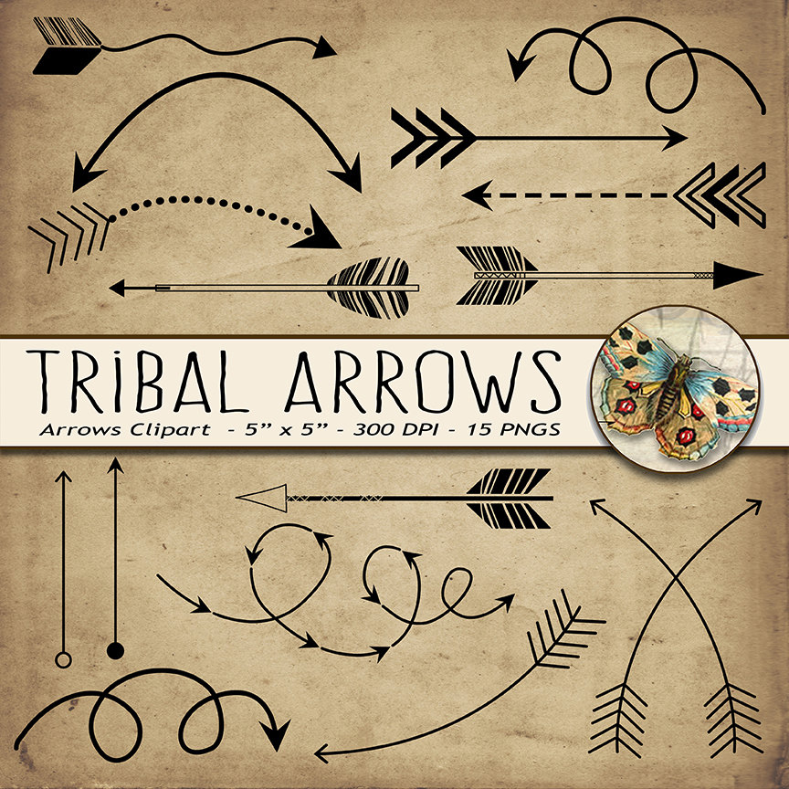 Drawn arrow fun Arrow Tribal doodles Doodle clipart