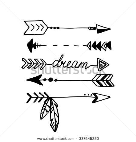 Calligraphy clipart tribal Arrow collections And white Clipart