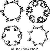 Tribal clipart circular Art sun; tribal Spiral tattoo;