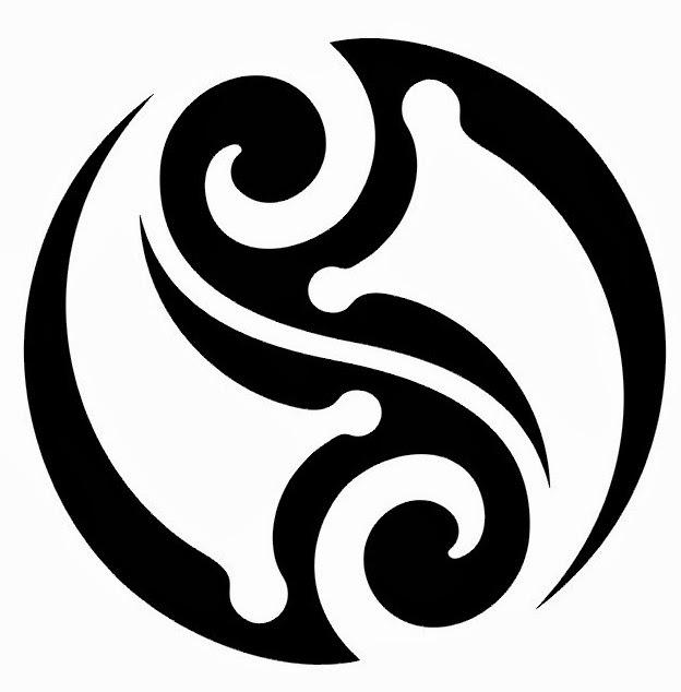Tribal clipart circular Pixels tattoo circle stencil 11