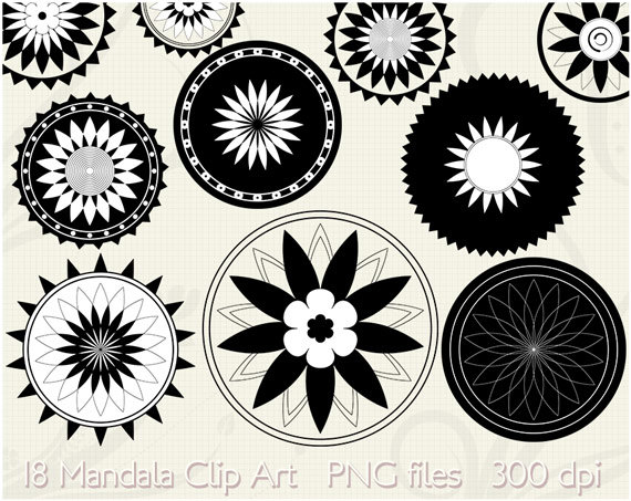 Tribal clipart circular Tattoo Clip Mandala Lotus Art