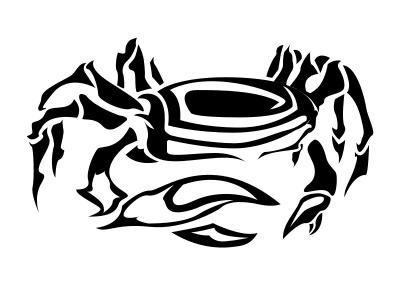 Tribal clipart crab Only Tribal Tribal Cancer Cancer