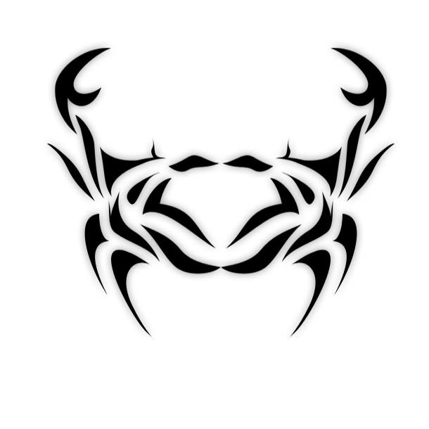 Tribal clipart crab Pinterest Cancer Tattoo ideas on