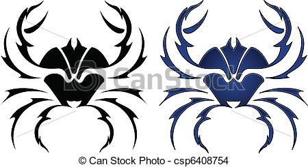 Tribal clipart crab Crab Tribal Crab tattoo