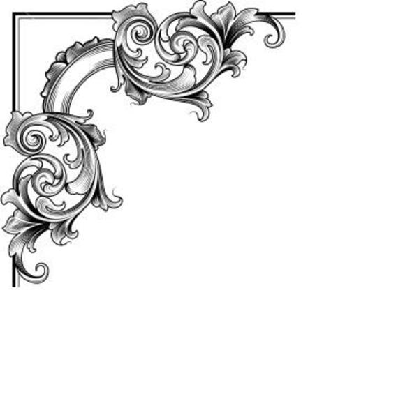Decoration clipart simple page corner At com Decorative at clip