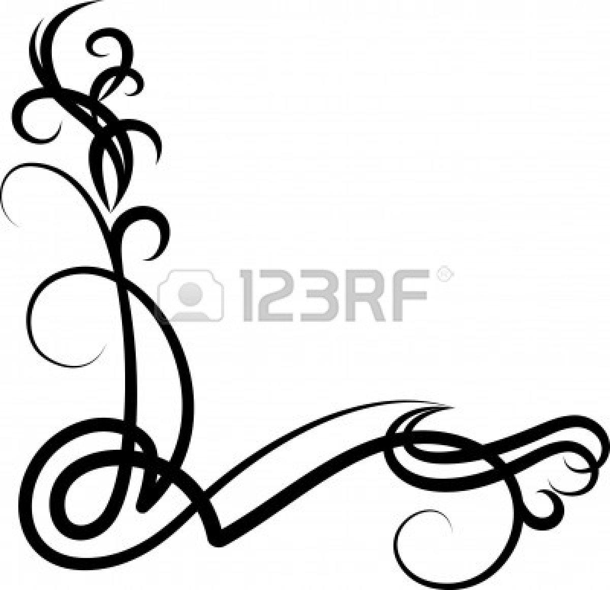 Decoration clipart decorative scrolling Clipart Clipart Images Corner Clip