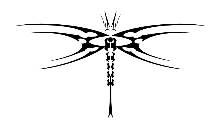 Tribal clipart dragonfly Tribal Tribal Only Creative Designs