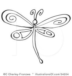Simple clipart dragonfly Dragonfly Vector small catalog printable