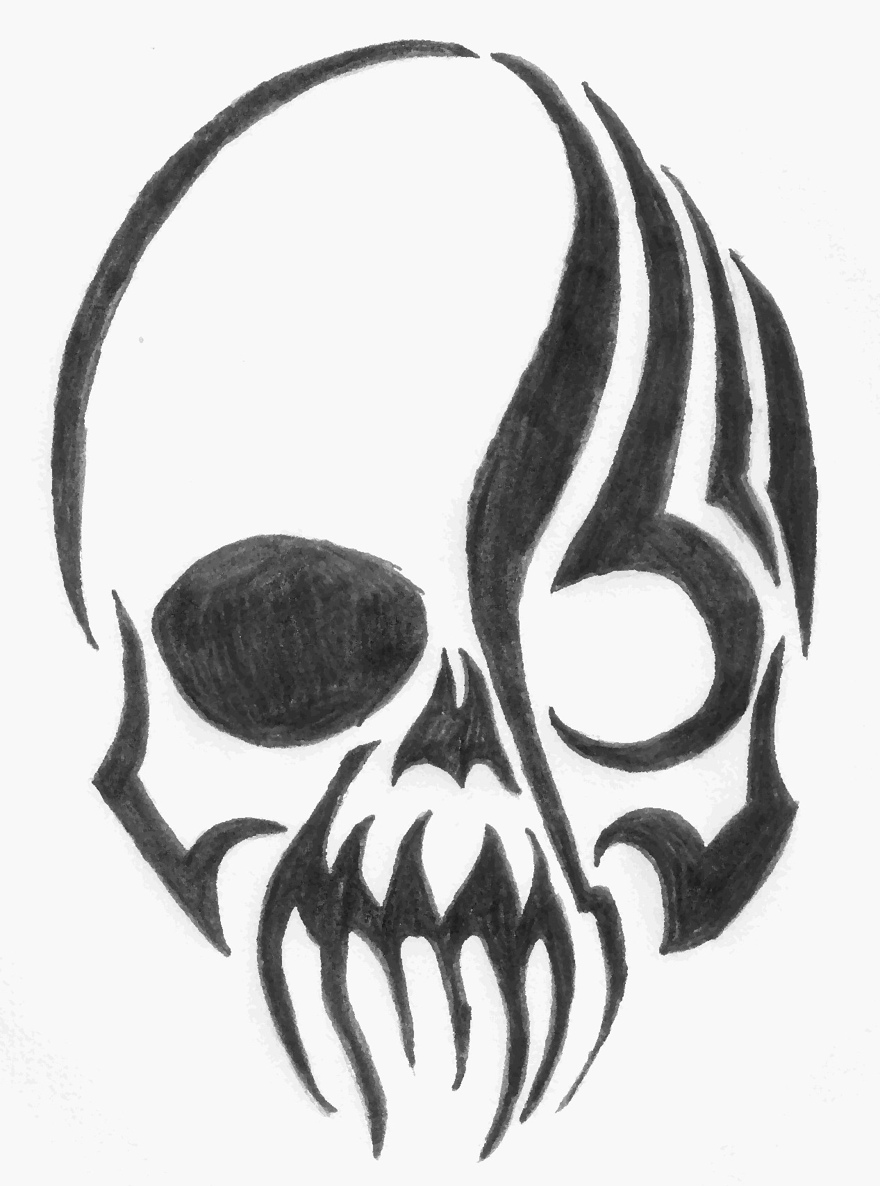 Drawn ssckull tribal Library Free Free on Clip