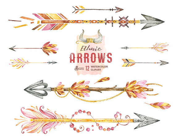Arrow clipart boho #2