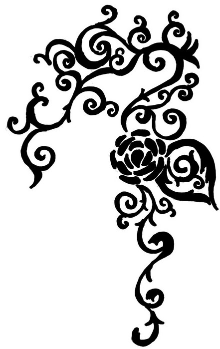 White Rose clipart rose vine #9