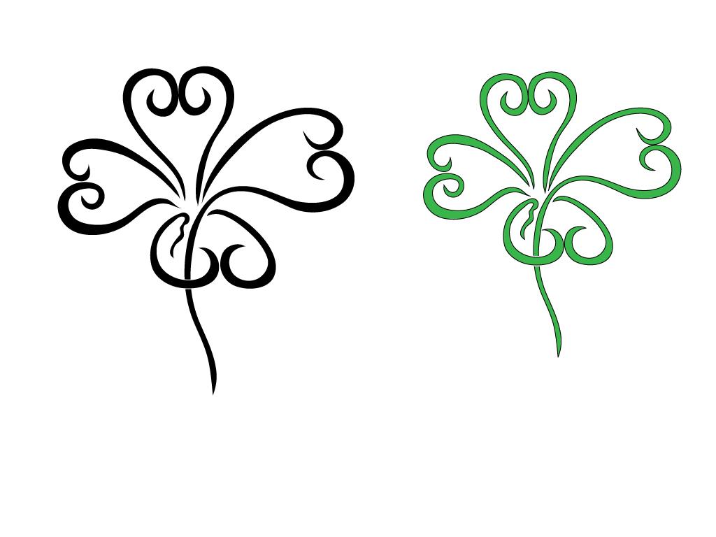 Celt clipart four leaf clover  Download Clip 4 Clover