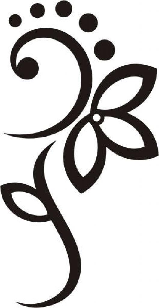 Tribal clipart line art Flowers  clipart best tribal