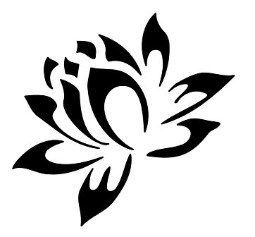 Tribal clipart lotus Would silhouets flower an placed