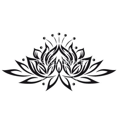 Tribal clipart lotus And Lotus Tattoo Tribal images