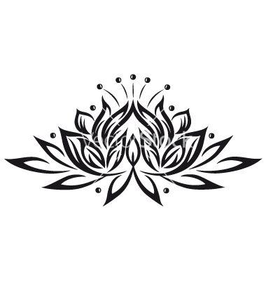 Tribal clipart lotus And Lotus on Tattoo Tribal