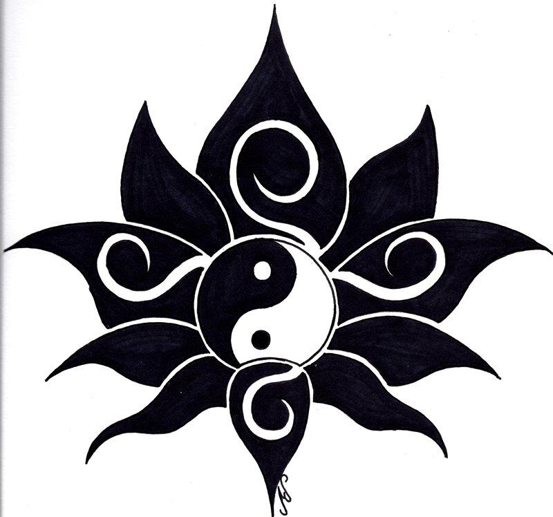 Tribal clipart lotus Yin Stencils Lotus Lotus Yang