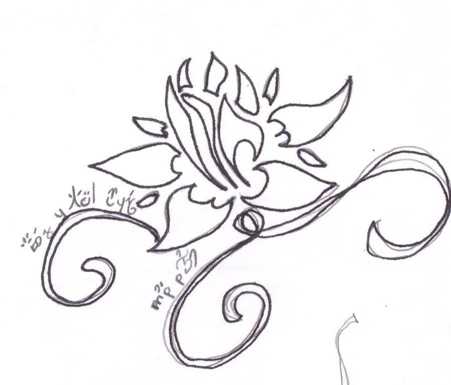 Tribal clipart lotus Sample Tattoo Tattoo photo Lotus