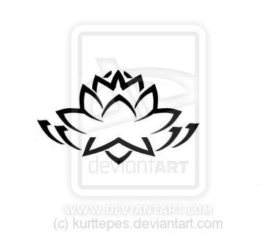 Tribal clipart lotus Lotus tattoo Tribal flower flower