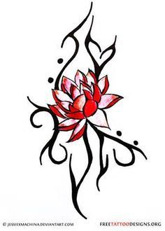 Tribal clipart lotus Design flower tattoos drawings by