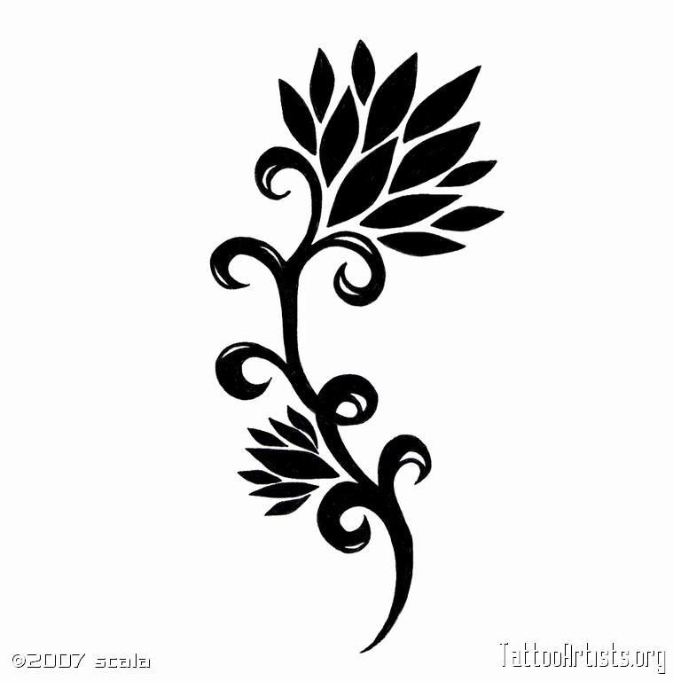 Tribal clipart lotus Vine Tattoo Vine Artists Lotus