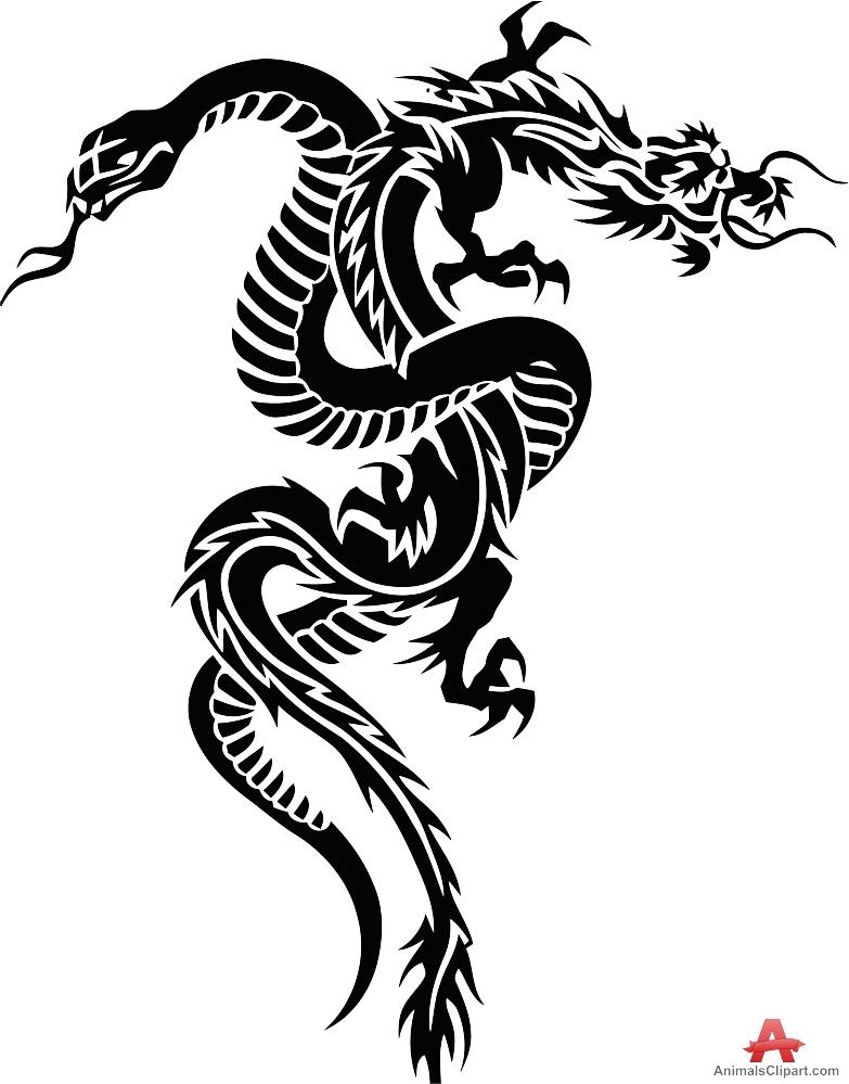 Rattlesnake clipart tribal #7