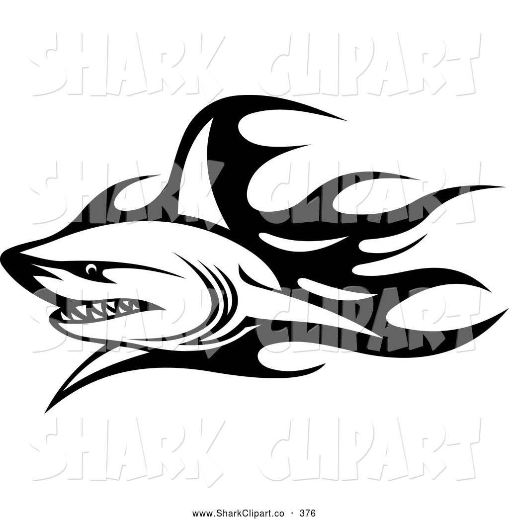 Shark clipart tribal #9