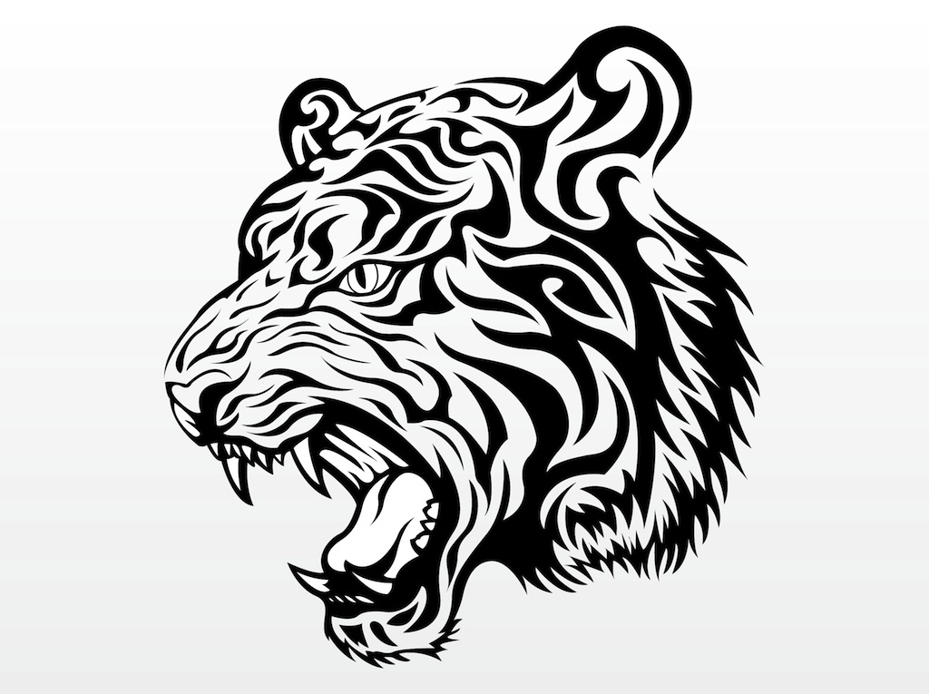 Tiger clipart angry #2
