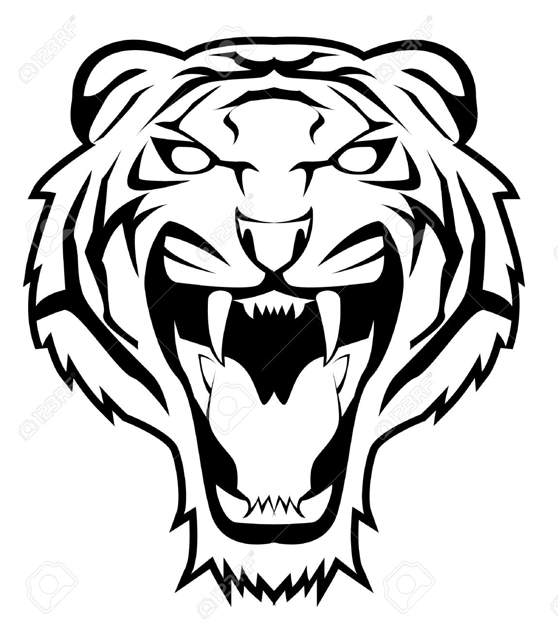 Tiger clipart shadow #14