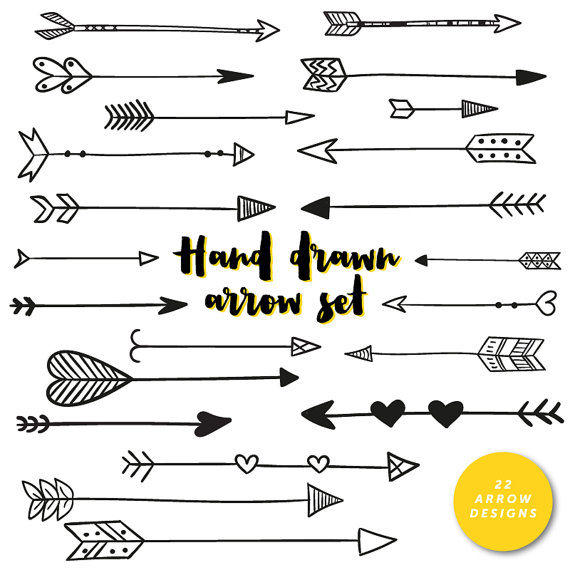 Hearts clipart arrow clip art Drawn Arrows Hand Tribal