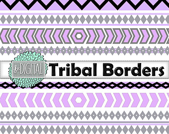 Tribal clipart tribal print Borders Digital Tribal Border Digital