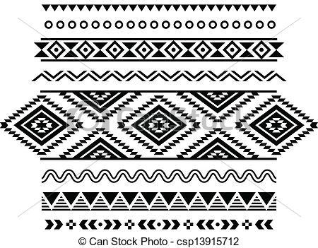 Tribal clipart tribal print Aztec Clipart Print