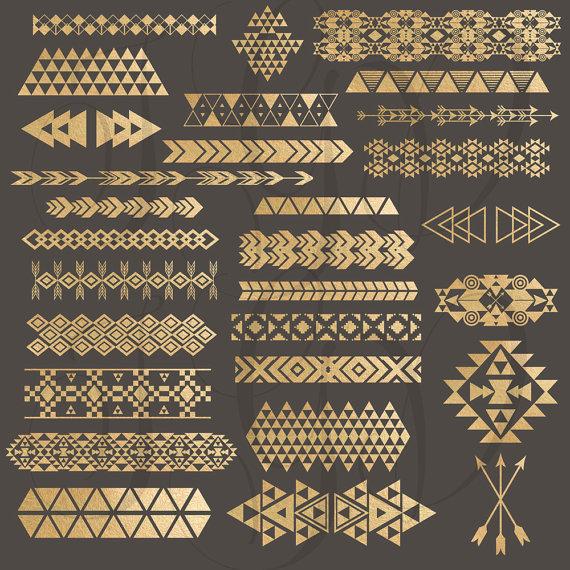Tribal clipart tribal print A borders  of Art