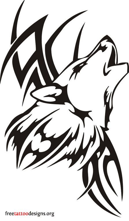 White Wolf clipart stencil art More best and Svg Wolf