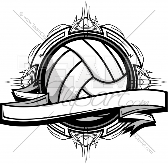 Tribal clipart volleyball Clipart Clipart Logo Volleyball Clipart