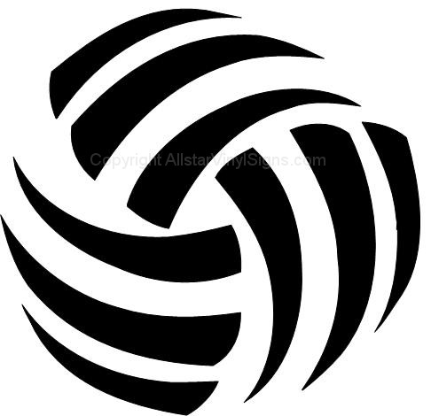 Tribal clipart volleyball Decals Car Window Abstract Vinyl