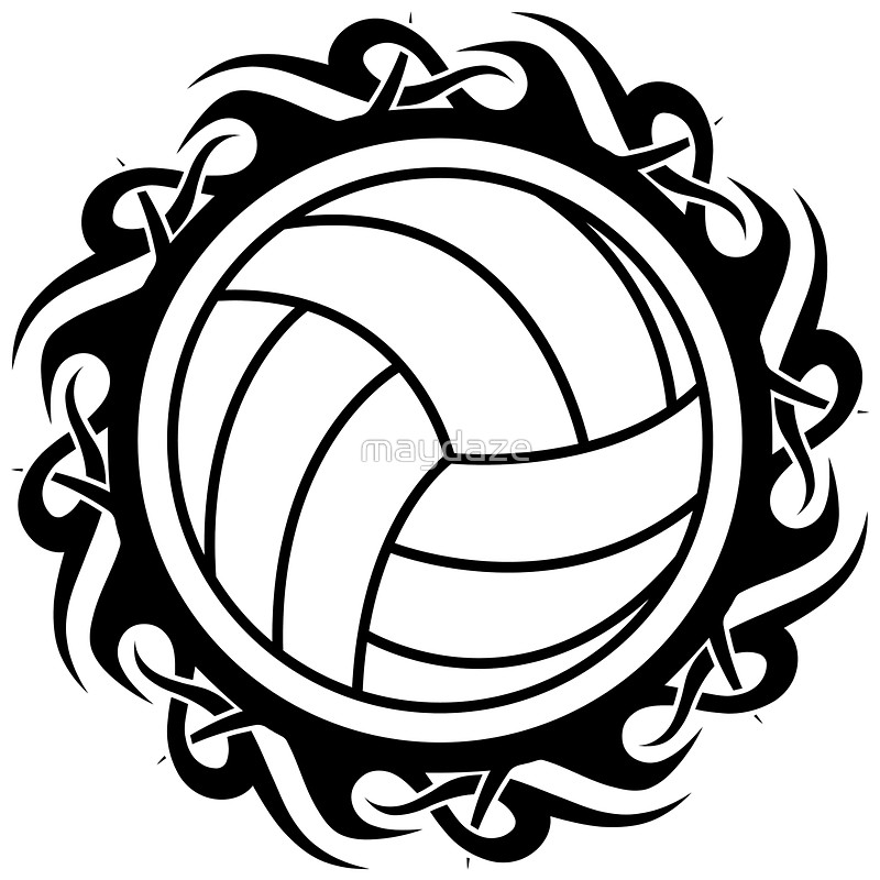 Tribal clipart volleyball Maydaze maydaze by tribal Posters