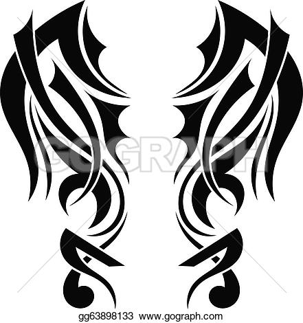 Wings clipart graphic design Royalty Graphic design Wings tattoo