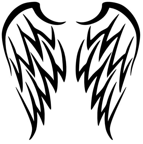 Angel clipart tribal #3