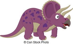 Triceratops clipart 842 Art Vector  illustration
