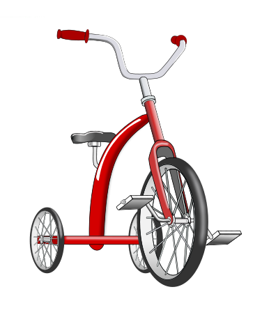 Tricycle clipart Art  Free Clip Tricycle