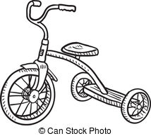 Tricycle clipart Illustrations children's  Vector EPS