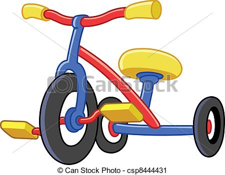 Tricycle clipart Tricycles csp8444431 of Art Tricycles