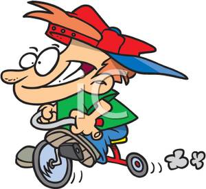 Tricycle clipart animated Riding Boy Trike A Image: