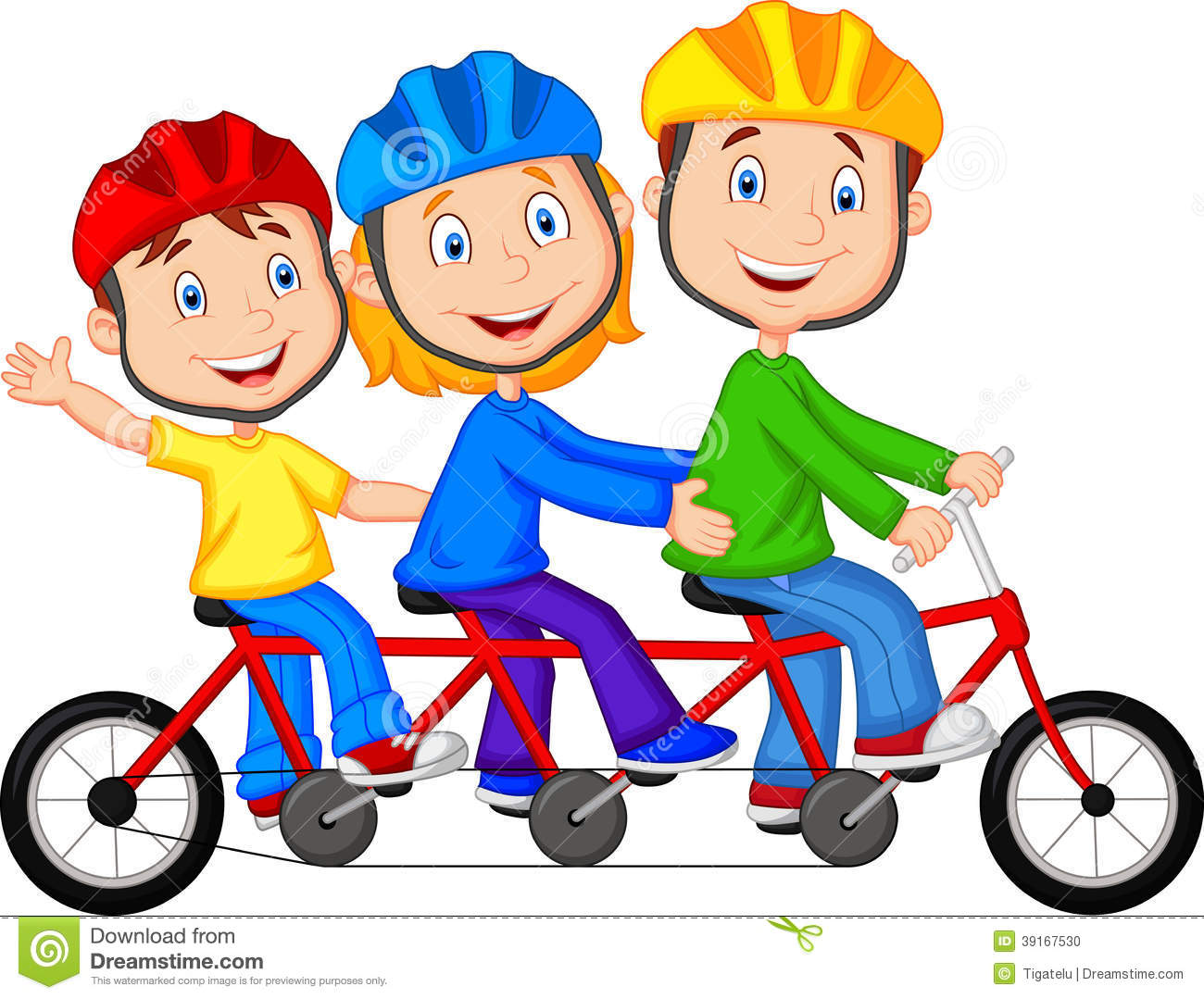 Tricycle clipart animated Bicycle Triple Vector Image Family